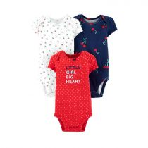 3-Pack Cherries Original Bodysuits
