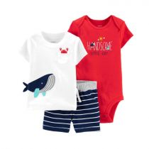 Carter's 3-Piece Whale Little Short Set - CAT1H373410