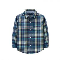 Carter's Plaid Poplin Button-Front Shirt - CAT1H414210