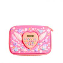 Smiggle Pencil Case Hardtop Calculator Times - IGL443225PNK