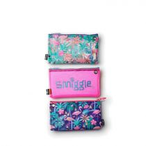 Smiggle Pencil Case Trio Paradise - IGL442275PUR