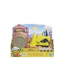 Play-Doh Wheels Mini Bulldozer Toy with 1 Can of Non-Toxic Play-Doh Stone Colored